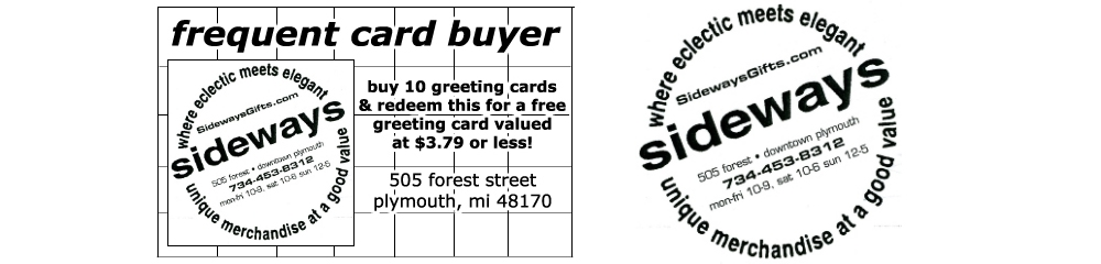 frequent card buyer from sideways is an effective way to save money!